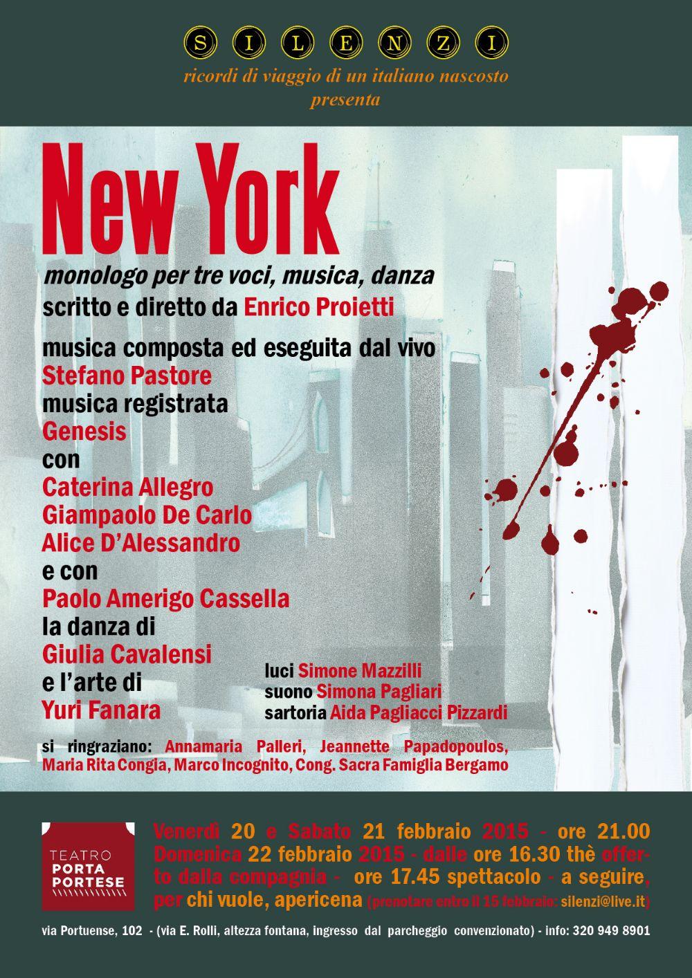Mappa evento new york teatro porta portese spettacoli a - Porta portese annunci ...