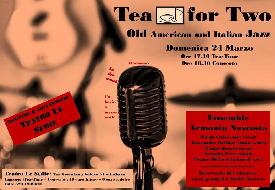 Teatro Le Sedie.Tea For Two L Ensemble Armonia Nascosta In Concerto Teatro