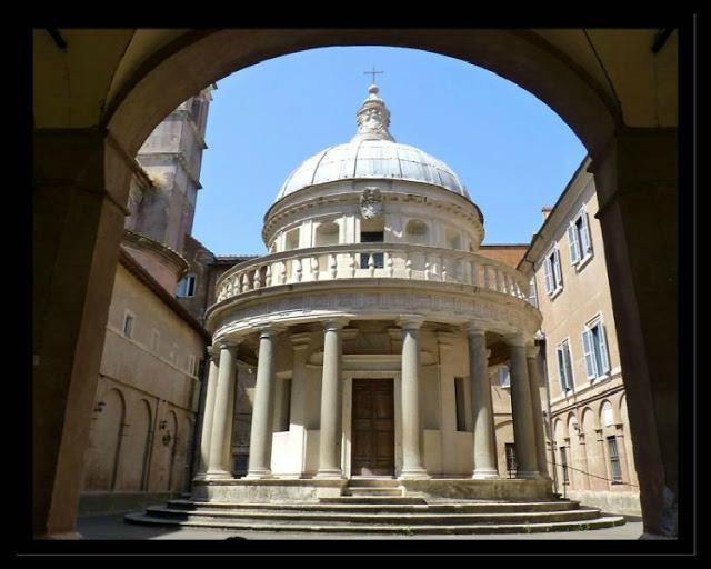 San Pietro In Montorio Il Tempietto Del Bramante E Le